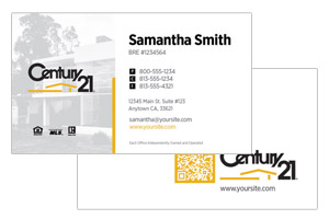 Minimal Century 21 business cards