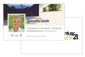 real estate century 21 business cards