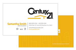 business cards for Century 21 realtors