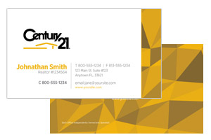 pre designed business cards for realty agents