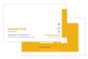Business cards for Century 21 agents