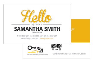 Simple realty Century 21 cards