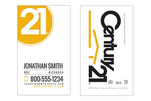 design and print cards Century 21