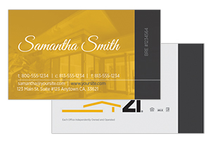 Modern pre deisgned Century 21 realty cards