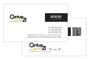 Modern Century 21 business cards