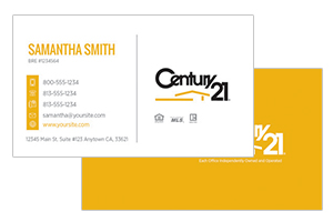 Century 21 pre designed real estate business cards