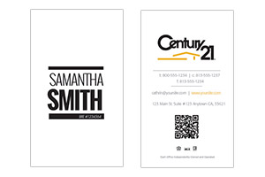 Century 21 pre-designed real-estate business cards