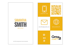 pre designed real estate business cards