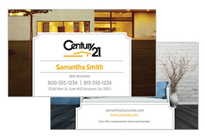 custom pre designed Century 21 business cards