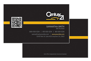 Modern Century 21 pre designed realty cards