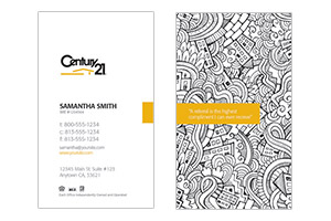 pre design custom Century 21 business cards