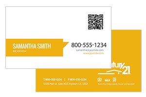 custom design Century 21 business cards