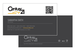 custom design Century 21 real estate cards
