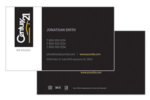 custom design Century 21 realty cards