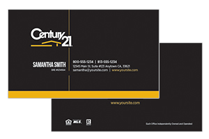 raltor business cards for Century 21 agents