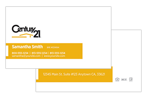 Century 21 modern realty business cards