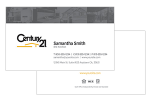 Century 21 custom design realty cards