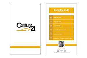 Century 21 custom real estate cards
