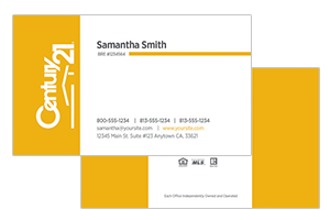 Century 21 custom design real estate cards