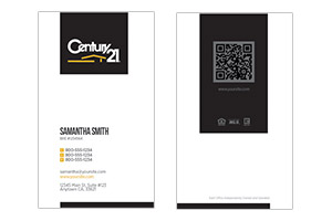 Century 21 custom realty Business cards