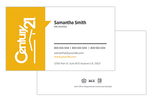 Century 21 real estate business cards