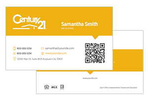 Century 21 custom business cards