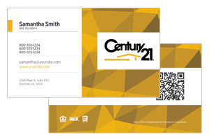 realty business cards century 21