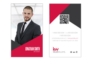 Custom design realty business cards keller williams realty modern pre designed business cards for agents friedricerecipe Gallery