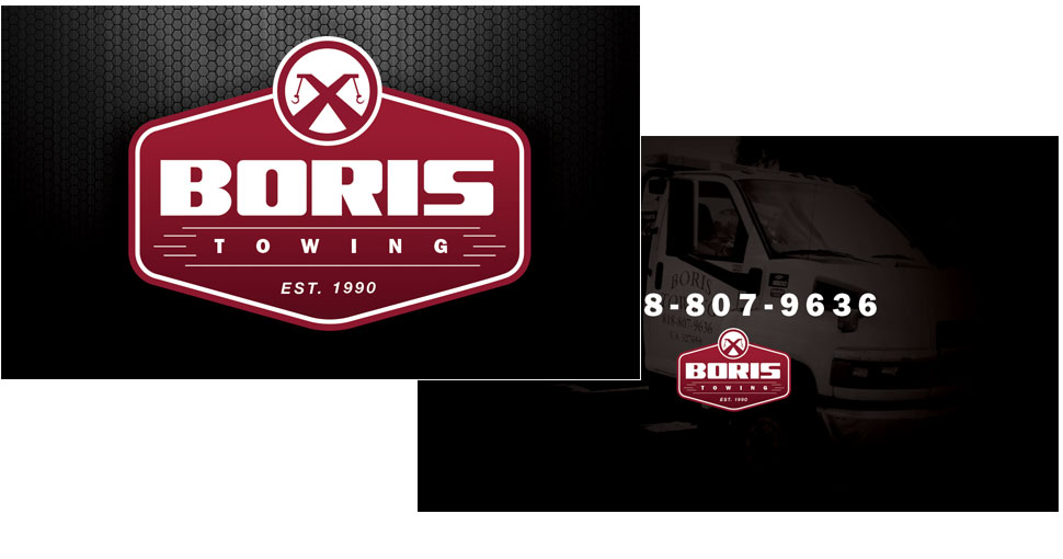 Boris Towing business cards