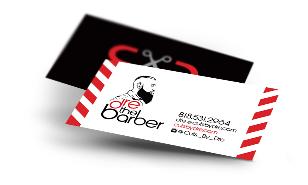 cuts by dre business cards logo