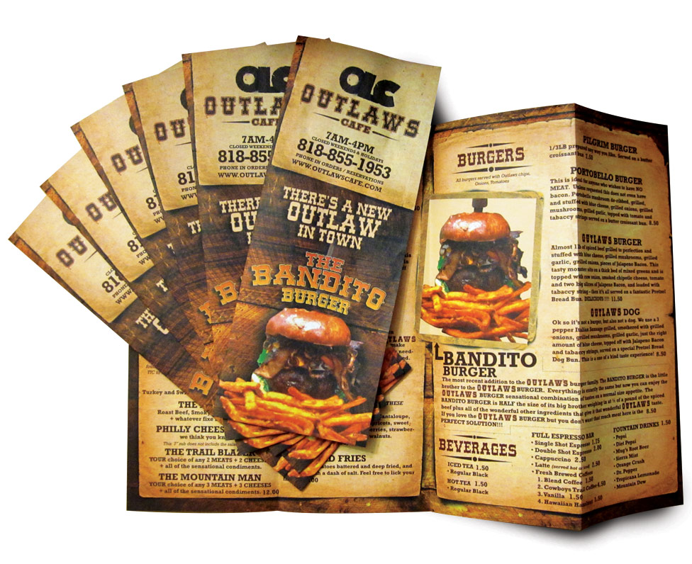 outlaws menu