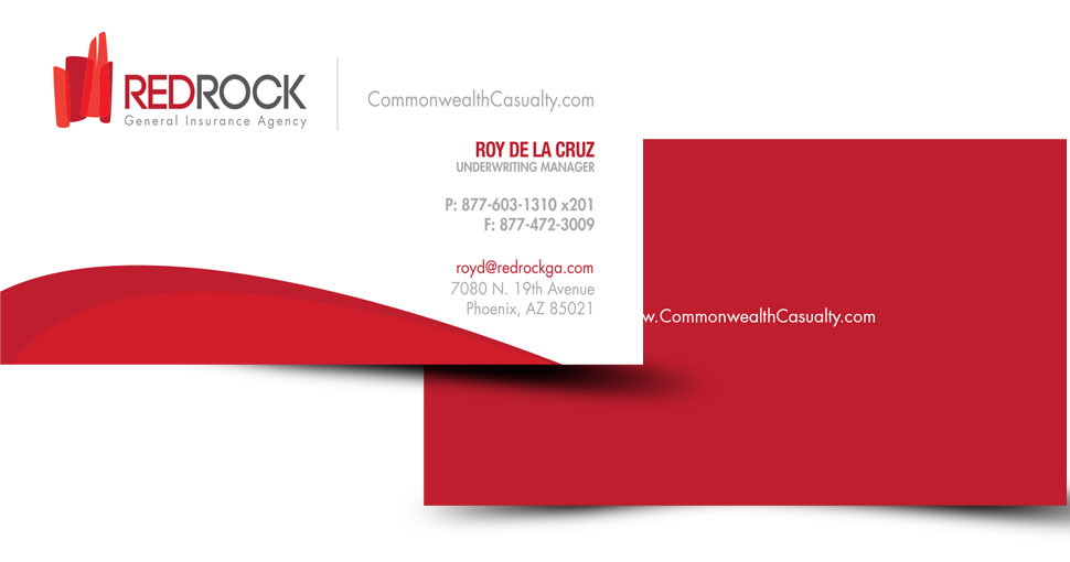 red rock business cards